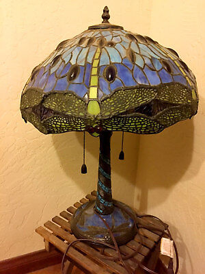 Vintage Tiffany-Style Dragonfly Lamp