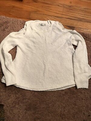 Abercrombie Cold Shoulder Sweater White Juniors 13/14