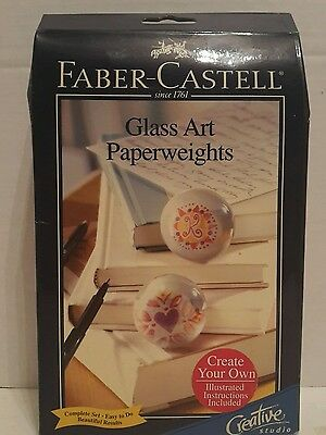Faber Castell Creative Studio Glass Art Make Your Own Paperweights NIB