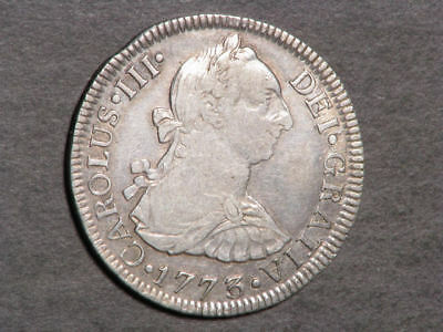 MEXICO 1773MoFM 2 Reales Silver VF