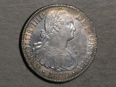 MEXICO 1800MoFM 8 Reales Silver Crown Choice XF-AU