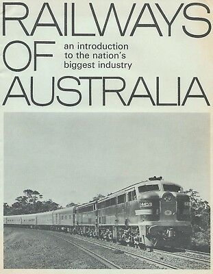 RAILWAYS OF AUSTRALIA Information Booklet 1967: 16 pages