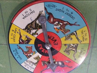 Tin Toy The Handicap Race Game Boxed  1930S