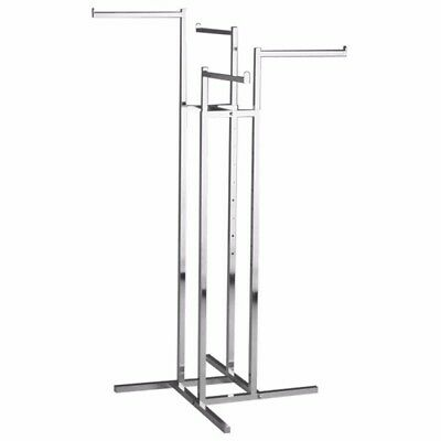 Heavy Duty Commercial Grade 4 Way Clothing/garment Rack