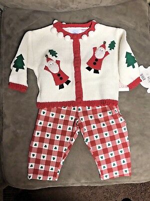 Baby Christmas Sweater/Pants outfit. Size-12 month. Girl's sweater/pants outfit.