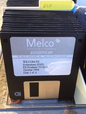 Melco Embroidery Machine Software Disks