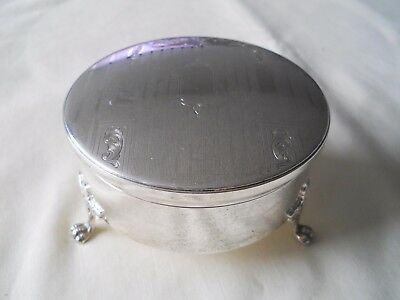 Birks Sterling Silver Footed Jewellery Rings Box Nice