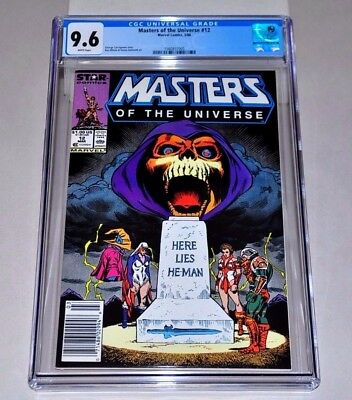 Masters Of The Universe 12 CGC 9.6 White Pages  NEWSSTAND Variant