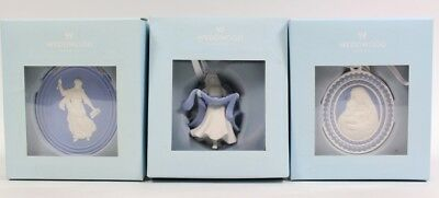 Wedgwood Christmas Ornaments Figural Angel AN MUSE '11 Madonna Child '10 LOT NEW