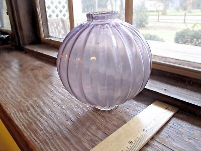 "Antique Lightning Rod Ball - 5""  Pleat Pointed PUMPKIN -sun colored amethyst"