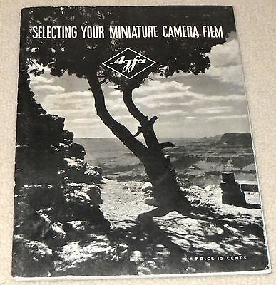 """1938 Agfa/Ancso Photography Booklet: """"Selecting Your Miniature Camera Film"""""""