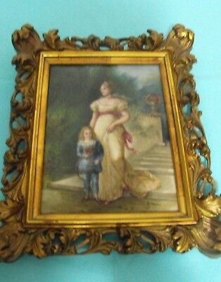 Exquisite Framed Painting on Porcelain by Paul Doering - Possibly Royal Vienna