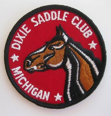 Dixie Saddle Club Michigan Cloth Patch Free Shipping!