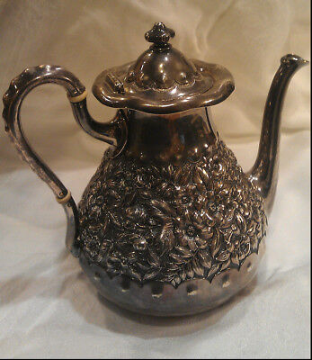 Fine Sterling Silver Antique Early American Coffee Pot ~ 543g 925 Scrap Weight