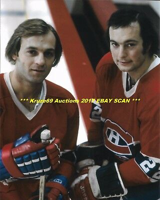 GUY LAFLEUR & STEVE SHUTT The DYNAMIC DUO 8x10 Photo MONTREAL CANADIENS HOF~@@