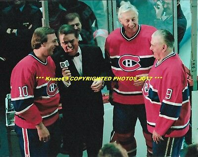 GUY LAFLEUR~JEAN BELIVEAU~MAURICE RICHARD Share LAUGH 8x10 CANADIENS HOF GREATS