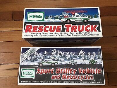 Lot Of 2 Hess Trucks 1994 And 2004 New In Box