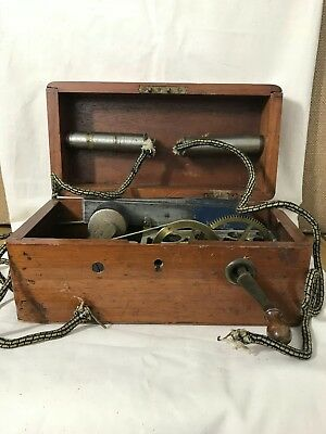 ANTIQUE ~Rare Model~ MAGNETO ELECTRIC MACHINE Steampunk WORKING Quack Medicine