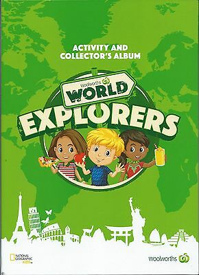 Woolworths World Explorers Activity Collector's Album Includes all Cards & Map