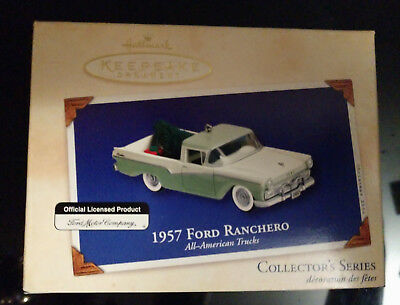 Hallmark Keepsake Collector's Series Ornament - 1957 Ford Ranchero From 2002