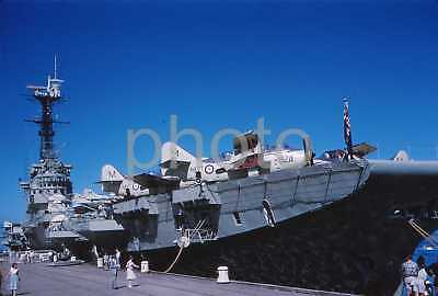 2 x 35mm Vintage Colour slides c1960's HMAS Melbourne at Port Adelaide Navy