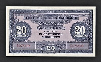 vad - AUSTRIA - ALLIED MILITARY AUTHORITY - 20 SCHILLING BANKNOTE - P# 107 *UNC*