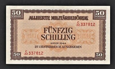 vad - AUSTRIA - ALLIED MILITARY AUTHORITY - 50 SCHILLING BANKNOTE - P# 109 *A/U*