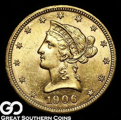 1906-D Gold Eagle, $10 Gold Liberty, Very Lustrous Gem BU++ ** Free Shipping!