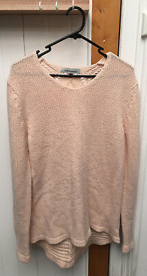 Angel Maternity slouch knit top with back detail size M