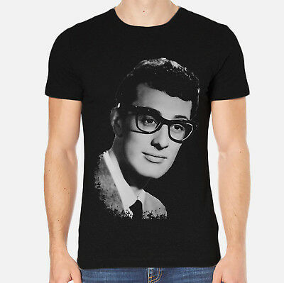 Buddy Holly New Men T-Shirt Black Clothing 3-A-018
