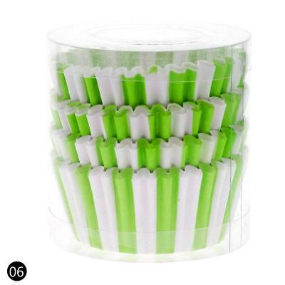 Green 100PCS Paper Cupcake Case Wrapper Muffin Liners Baking Cups BC UK0107