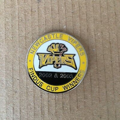 Newcastle Vipers Findus Cup Winners Pin Badge