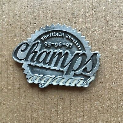 Sheffield Steelers Champs Again Pin Badge 1997