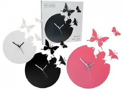 Job Lot of 10 BUTTERFLY WALL CLOCKS Wholesale Bulk Buy Novelty 3 Assorted