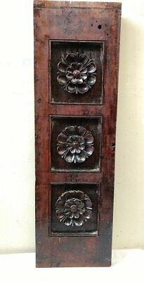 Antique Wall Hanging Wooden Window Panel Hand Floral Carved Home decor panel UK