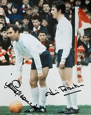 Jimmy Robertson & Jimmy Greaves signed 10x8 Tottenham photo UACC AFTAL
