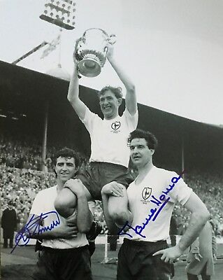 Bobby Smith & Maurice Norman signed 10x8 Tottenham photo UACC AFTAL Image A