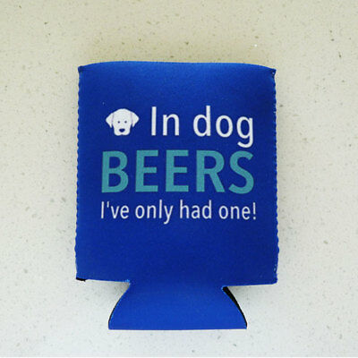 In Dog BEERS Neoprene Fold Flat Can / Stubbie Cooler