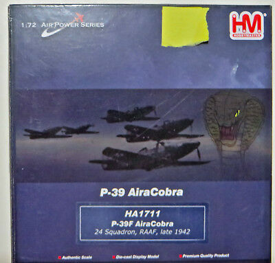 P-39 AiraCobra - RAAF - 24 Squadron - Late 1942 - HM brand - Diecast 1/72 Scale