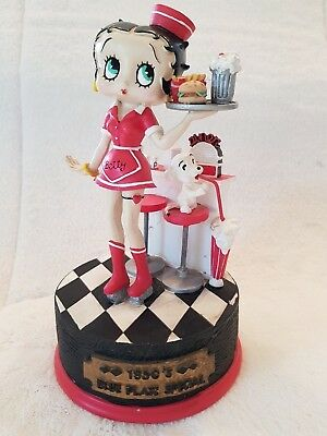 Betty Boop 1950s Blue Plate Special  Musical Figurine