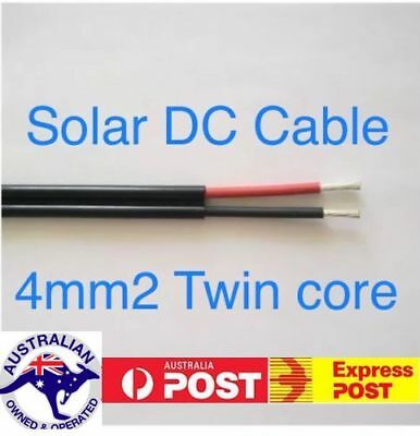 Twin Core 4mm2 Solar DC Extension Cable ( Select 1m to 30m Lengths)
