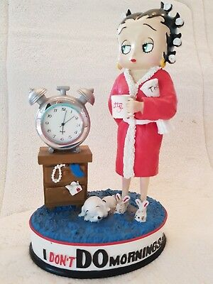"""Betty Boop """" I DONT Do Mornings """" Figurine"""