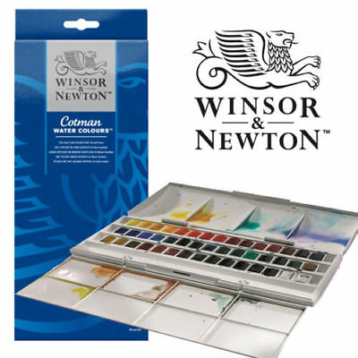Winsor & Newton Cotman 45 Half Pan Studio Watercolour Set (artists water colours