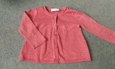 the Little White Company Girls cardigan pink 6-9, cotton linen
