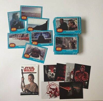 2017 Topps Star Wars Journey to The Last Jedi Trading Cards Set + Insert Sets