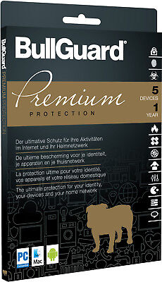 BullGuard Premium Protection [5 Geräte - 1 Jahr - Vollversion]