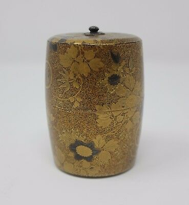 Lovely Antique Meiji Japanese Lacquer Natsume - tea caddy