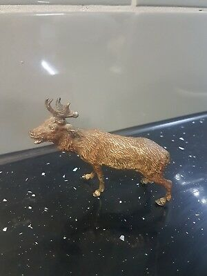 Cold painted bronze Moose / Elk c.1910 fine detail 3.5 inches - Very Rare