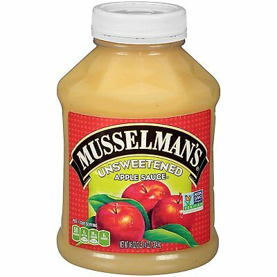 Musselmans Unsweetened Apple Sauce, 46 Ounce Pack of 8