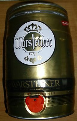 5 liter fa fass bierdose 2014 warstein warsteiner d79b. Black Bedroom Furniture Sets. Home Design Ideas